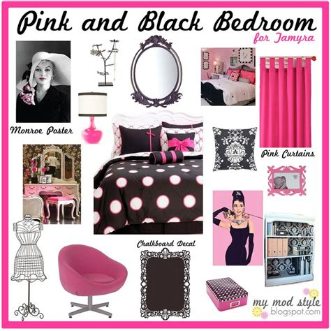 pink and black themed bedroom ideas for marilyn room room designs