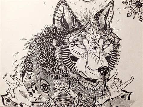 wolf mandala tattoo mandala wolf drawing at getdrawings free for
