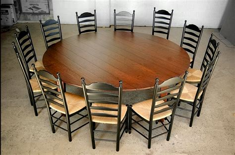 Round Dining Room Tables For 12 Custom Wood Tables Handcrafted Farmhouse Dining Tables