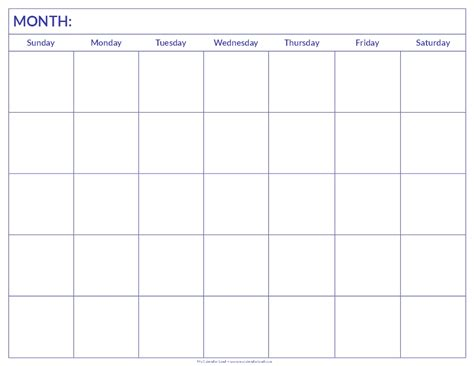 printable empty monthly calendar blank calendar print outs new calendar template site