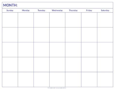 Monthly Calendar Print Outs   Calendar Template