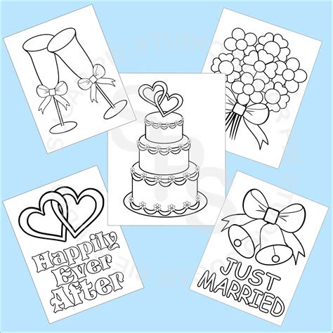 free printable coloring pages for weddings 5 printable wedding favor coloring pages by