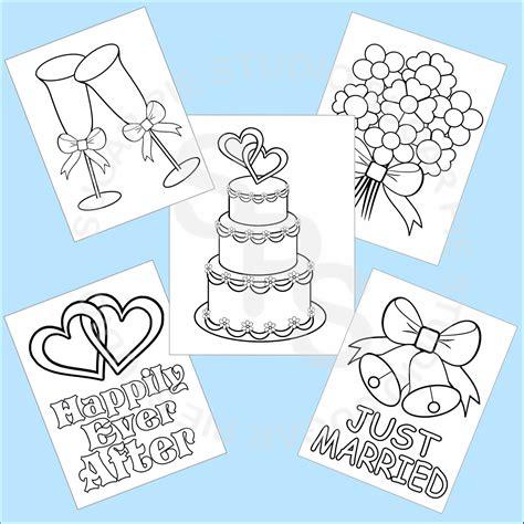 printable images wedding 5 printable wedding favor kids coloring pages pdf or jpeg file