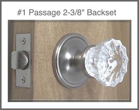 Passage Door Knob Sets by Lot Of 3 Complete Sets Fluted Glass Brushed Nickel