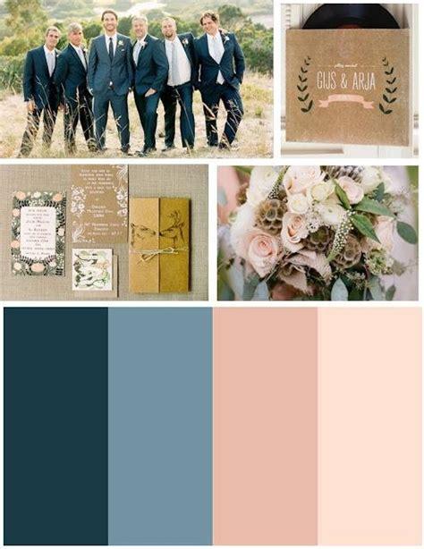 blue color palette wedding colour scheme navy blue and blush wedding