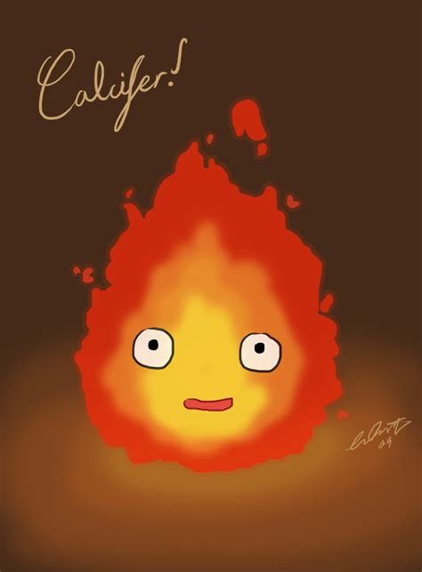 calcifer sketch by ghostgriffin on deviantart