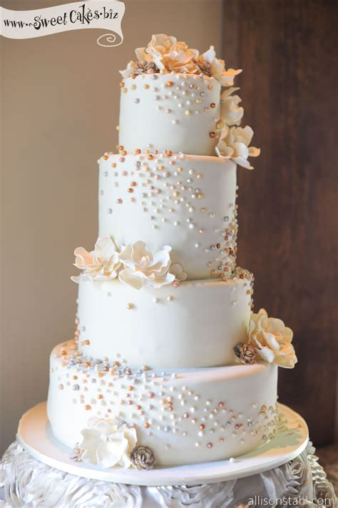 Wedding Cakes With Pearls by Top 10 Wedding Cakes With Pearls Inspiration