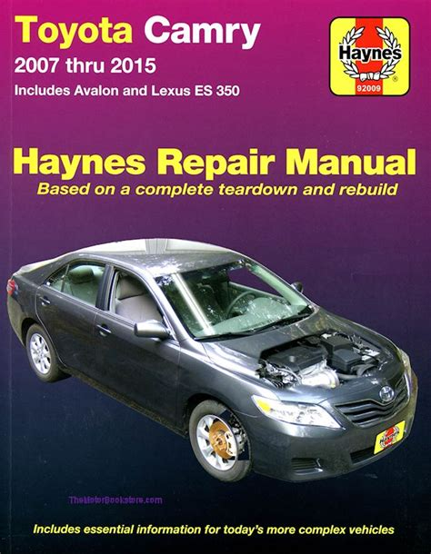 automotive service manuals 2007 lexus is on board diagnostic system toyota camry avalon lexus es350 repair manual 2007 2015 haynes
