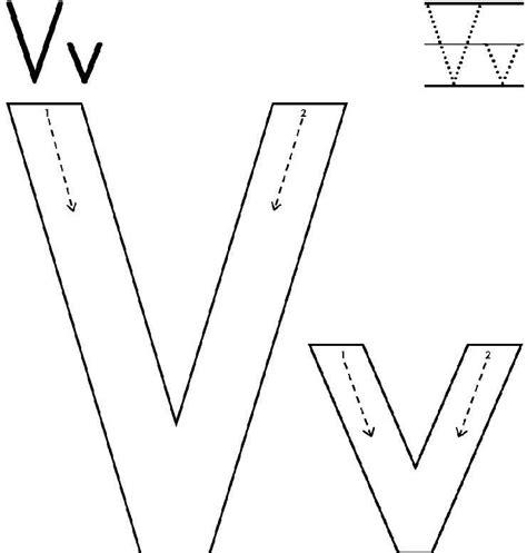 Pregrafismo lettera V   Lettera V prescrittura