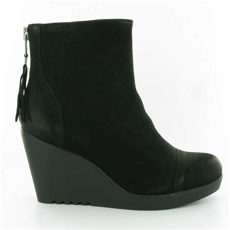 vagabond 36222 wedge ankle boots in black