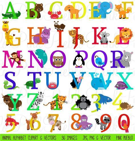 printable jungle alphabet animal alphabet font with safari jungle zoo animals