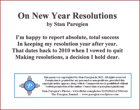 new year resolutions stan s paradise report