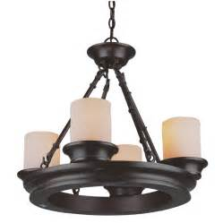 Lowes Kitchen Lights Shop Allen Roth 4 Light Rubbed Bronze Chandelier At Lowes