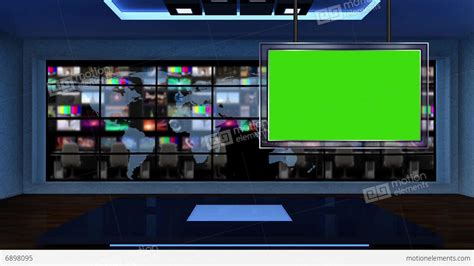 news tv news tv studio set 52 green screen background loop