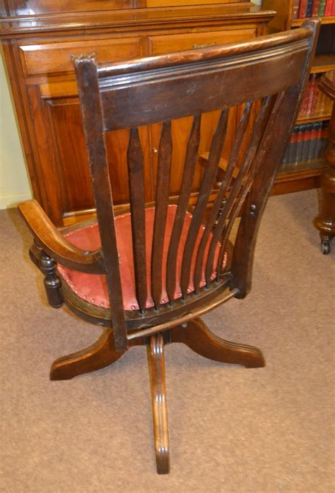 oak swivel desk chair oak swivel desk chair c1900 antiques atlas