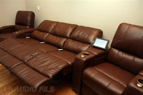 theater couch seating home theater sofa recliner red leatherette home theater