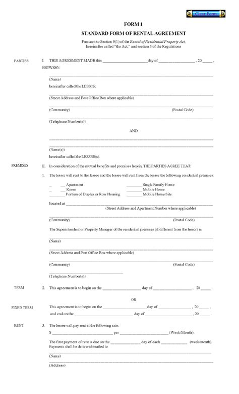 free printable rental house agreement printable residential free house lease agreement free