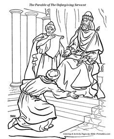 coloring page unforgiving servant beaufitul message in the parable for children r e