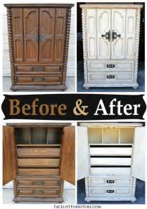 painting bedroom furniture before and after chunky clothing armoire in distressed off white before