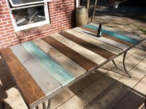 Diy Patio Table Top Patio Table Top Redo With Pallet Wood Kindred