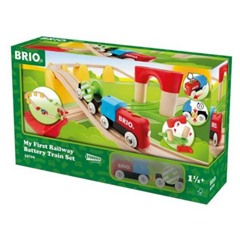 my first brio train set brio my first railway battery operated train set