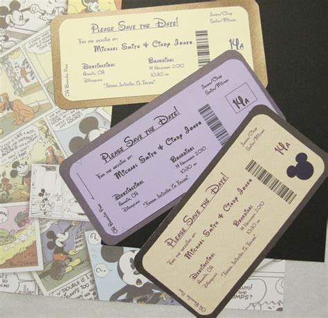 Wedding Invitations Disney by Disney Themed Save The Date Invite Boarding Pass