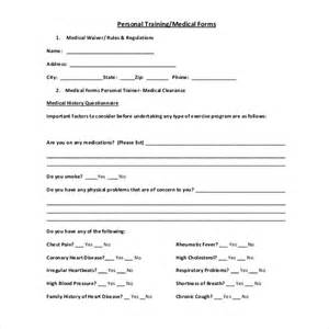 fitness waiver form template 15 sle waiver forms sle forms