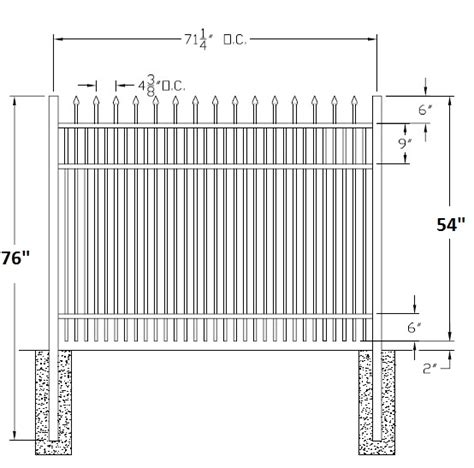 falcon residential wide aluminum fence