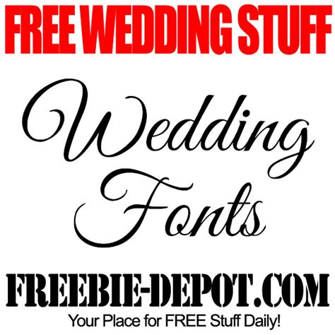 Wedding Font In by Free Wedding Stuff Fonts Freebie Depot