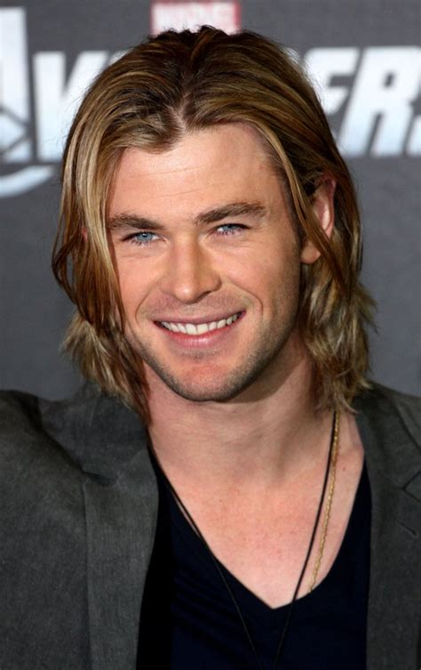 male stars with long hair chris hemsworth male celebrities with long hair