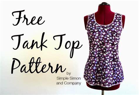 sewing pattern tank top free sewing pattern tank top pattern