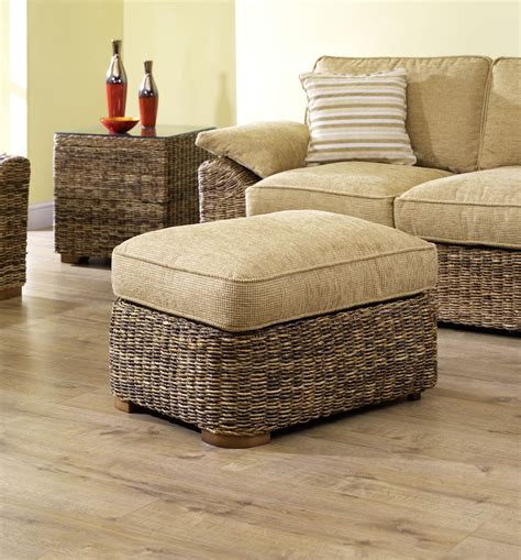 Banana Leaf Ottoman Banana Leaf Footstool Brown Conservatory Furniture Foot Stool Ottoman Pouffe Ebay
