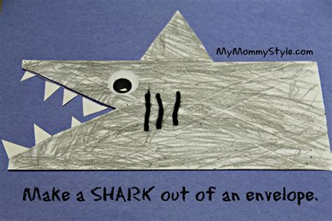 How To Make An Envelope Out Of 8 5 X11 Paper - sharks made out of envelopes my style