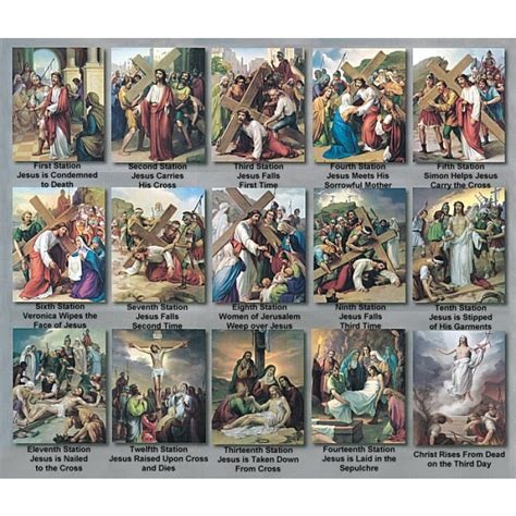 Stations of the Cross Print Set By Vincentini