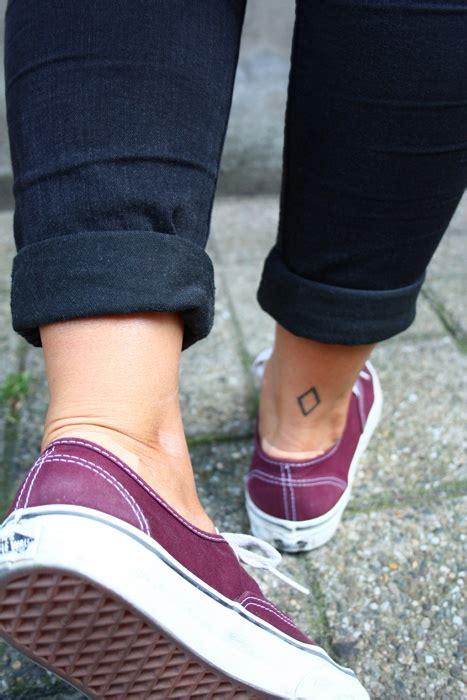 diamond tattoo on ankle diamond back of the ankle tattoo tattoos pinterest