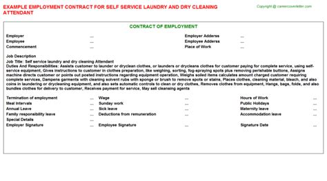 Self Employed Employment Contracts Agreements Contracts Jobdescriptionsandduties Com Self Employed Cleaner Contract Template
