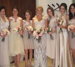 teresa palmer sister teresa palmer thanks bridesmaids with wedding snap daily