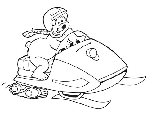 Snowmobile Skidoo 20 Transportation Printable Coloriage Motoneige Skidoo L