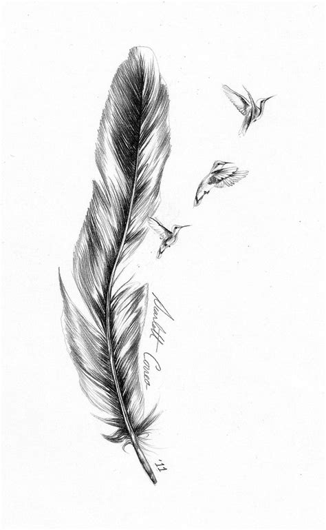 feather with birds tattoo designs feather images designs