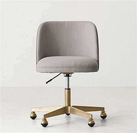 tufted upholstered desk chair white button tufted adjustable antiqued brass caster desk