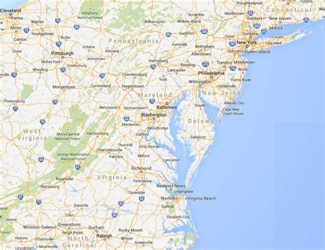 Md Wash map of maryland virginia and washington dc bnhspine