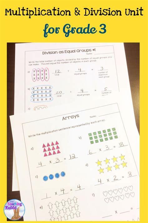 multiplication division unit for grade 3 ontario
