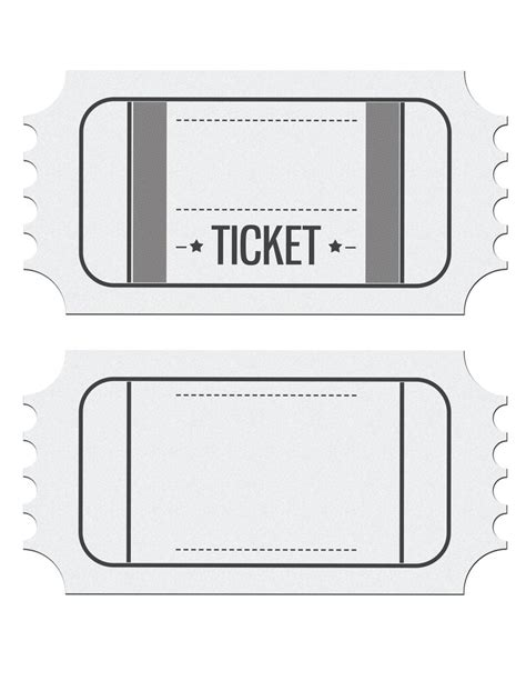 ticket invite template blank ticket invitation template place