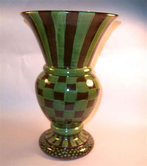mackenzie childs vase mackenzie childs brown green check vase from grandviewfinetableware on ruby