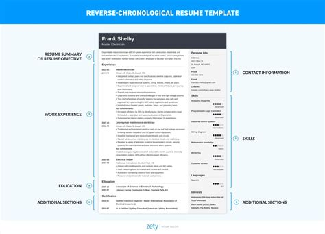 reverse chronological resume example shift manager resume