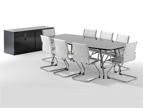 Black Boardroom Table Dynamo Boardroom Table In High Gloss 6 To 8 Seater In Black Radius Office Uk