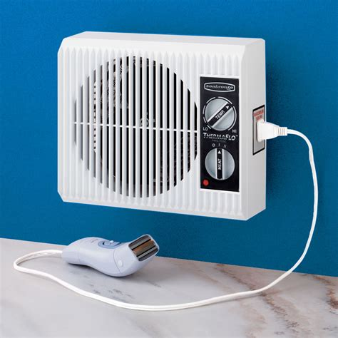 bathroom heat the off the wall bathroom heater hammacher schlemmer