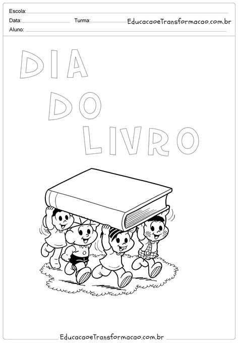 Painel Dia do Livro Infantil em EVA com moldes - Cartaz e