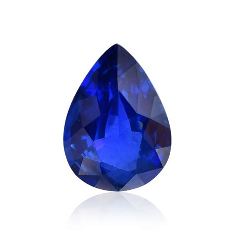 Blue Safir 1 1 1 93 carat blue sri lankan sapphire pear shape sku 307203