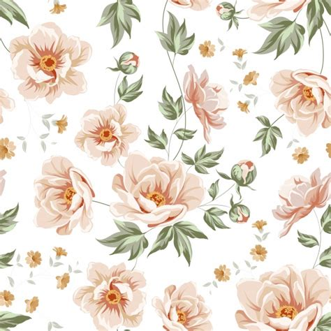 pattern flowers vector floral pattern design vector premium download